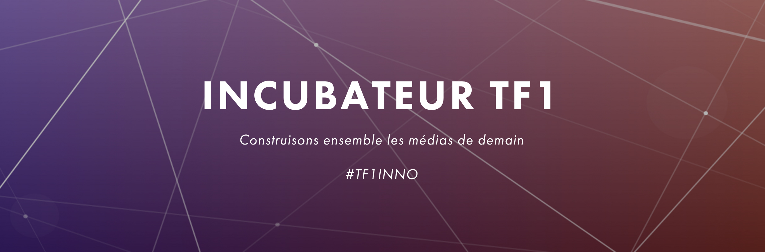 Le groupe TF1 lance la deuxième saison de son programme d'incubation